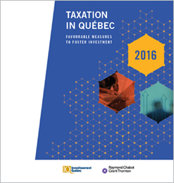 Illustration : Taxation in Québec 2016