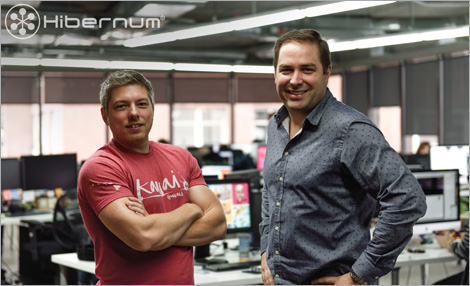 Pictured: Frédérick Faubert (left), Founder and President of Hibernum Creations, and Louis-René Auclair, Vice President and Chief Brand Officer