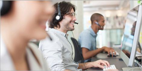 Photo d'employés du centre de soutien informatique de la Société Générale