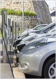 Photo de bornes de recharge pour véhicules électriques