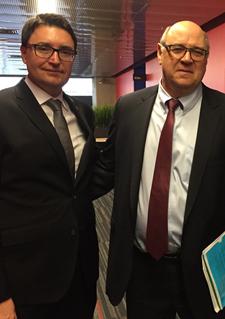 M. Éric Dequenne, vice-président, Affaires internationales à Investissement Québec s'est entretenu avec M. Alan Vesprini, directeur général du Centre technologique de Morgan Stanley à Montréal.