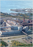 Photo of the ArcelorMittal's facilities on the Côte-Nord