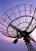 Photo of a parabolic antenna