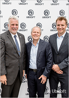 From left to right: Philippe Couillard, Yves Guillemot and Yannis Mallat