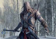 Image of the hero of Ubisofts video game Assassins Creed