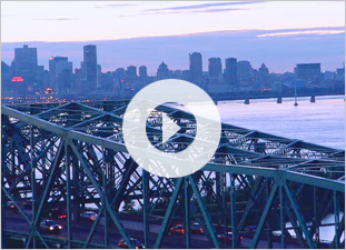 Picture starting a video on Québec, in a new window.