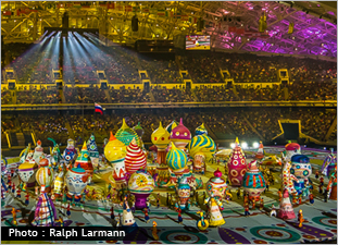 Photo of the opening ceremony at the Sochi Olympics. Photo courtesy of Ralph Larmann