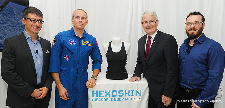 Photo of a smart t-shirt from Hexoskin