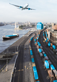 Photo of the Port of Montréal's transportation infrastructure