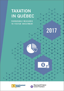 "A title that reads ""Taxation in Québec 2017"""