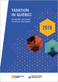 "A title that reads ""Taxation in Québec"""