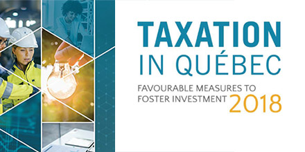 Cover of the document Taxation in Quebec 2018