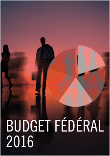 Illustration indiquant « Budget fédéral 2016 »