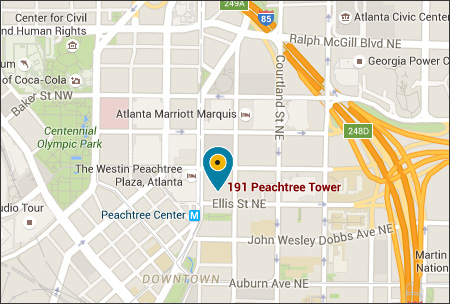 Google map showing the Atlanta office.
