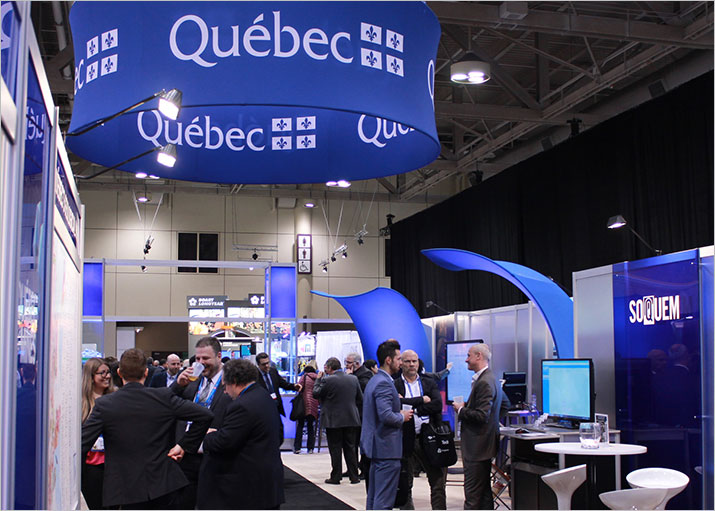 The SOQUEM booth in the Québec section