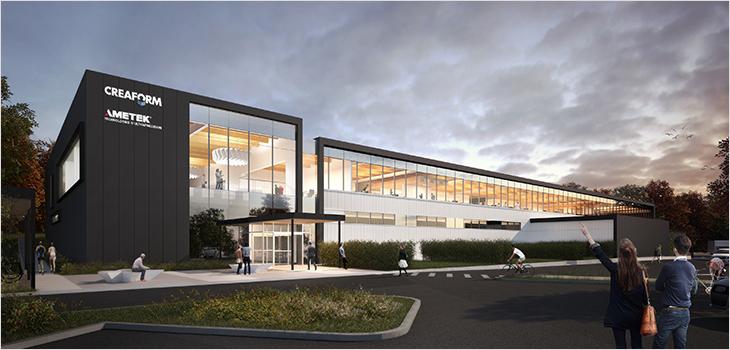 Illustration of Creaform's new headquarters