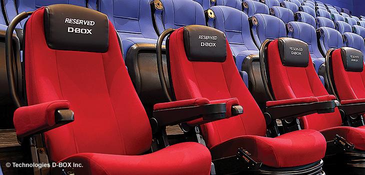 Photo de fauteuils de cinéma D-BOX  - Courtoisie de D-Box