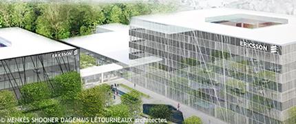 Model of the future Ericsson's R-D Centre in Montréal