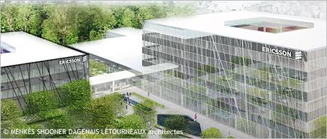 Architectural rendering of Ericsson's new R&D Centre in Montréal