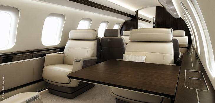 Photo de l'intérieur d'un avion