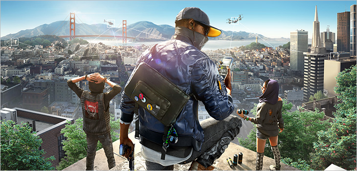 A scene from the game Watch Dogs 2, by Ubisoft