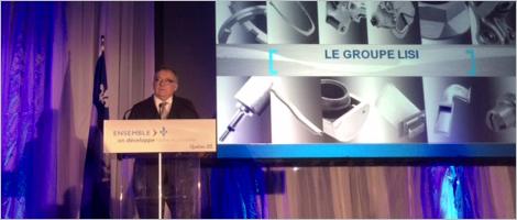 Photo de la conférence de presse de LISI Aéronautique Canada