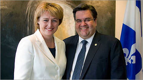 From left to right: Dominique Poirier, Québec Delegate General in New York, and Denis Coderre, Mayor of Montréal.