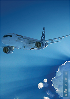 Photo of a Bombardier CS300, courtesy of Bombardier