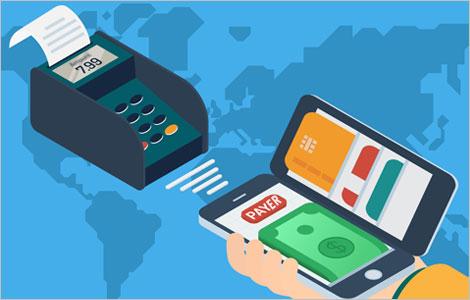 Illustration représentant une solution de paiement électronique