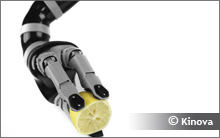 Photo of a robotic manipulator arm created by Kinova. Courtesy of Kinova.