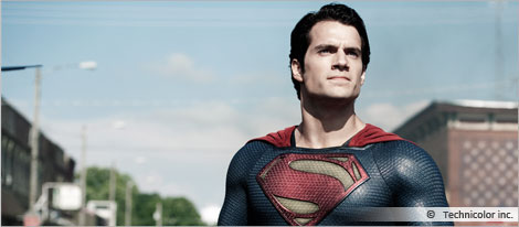 Pictures of the movie Superman, courtesy of Technicolor inc.