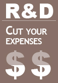 "Illustration indicating ""R&D: Cut your expenses"""