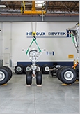 Photo of landing gear sets for the Boeing 777, manufactured by Héroux Devtek
