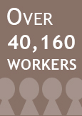 "Illustration indicating ""Over 40,160 workers"""