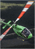 Photo of a commercial helicopter for five passengers, the Bell 505