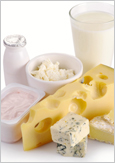 Photo de lait, de yogourt et de fromages