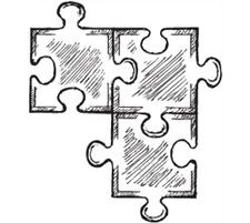 Illustration of pieces of puzzle