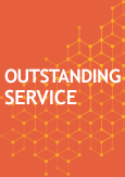 "illustration with a text indicating ""Outstanding service"""