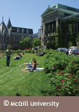 Photo of the McGill University campus in Montréal, courtesy of McGill University