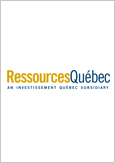 The logo of Ressources Québec, an Investissement Québec subsidiary