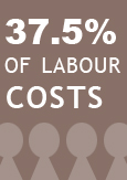 "Illustration indicating ""Up to 37.5% of labour costs"""