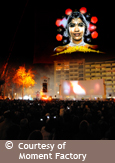 "Photo of the ""Fête des lumières"" event in Lyon, France, a Moment Factory production, courtesy of Moment Factory"