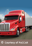 Photo of a Paccar commercial vehicle, courtesy of PACCAR
