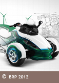 A photo of the Can-Am Roadster hybrid electric vehicle by Bombardier Recreational Products, courtesy of BRP 2012