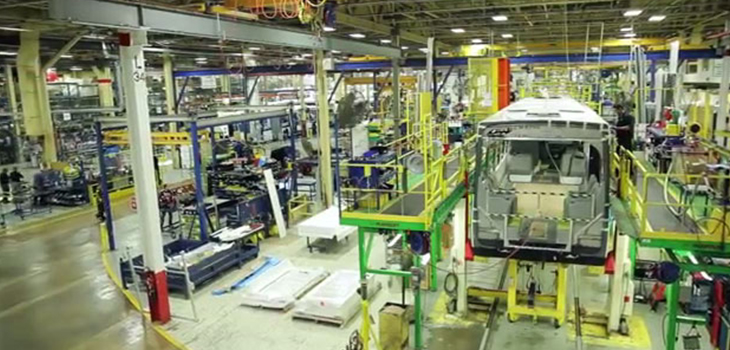 Photo of the Nova Bus plant