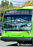 Photo d'un autobus hybride urbain de Nova Bus