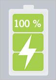 Icone d'une pile pour véhicule électrique