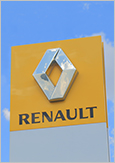 The logo of Renault