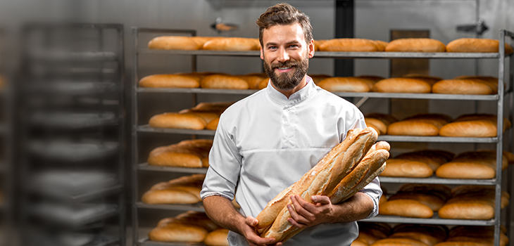 Photo of an employee in a bakery