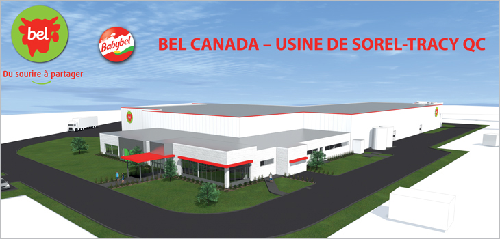 Illustration showing Quebec's future Bel Canada plant